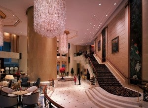 The lobby of the Shangri-La Hong Kong.