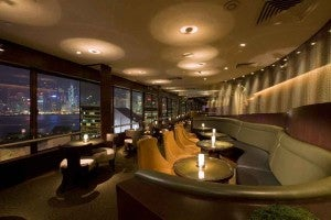 Have drinks and dinner at the Sky Lounge at the Sheraton Hong Kong.