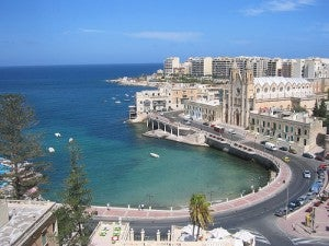 St. Julians is a popular destination for partying in Malta.