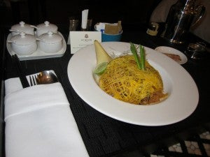 The room service pad thai was decent.