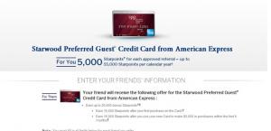 Starwood Preferred Guest Referral