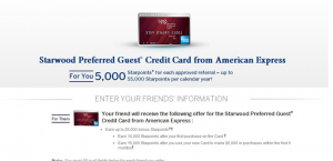 Starwood Preferred Guest Referral