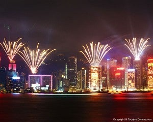 See the Symphony of Lights Show while cruising on the Star Ferry.
