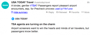 TSA agents are making flyers smile with  PreCheck.