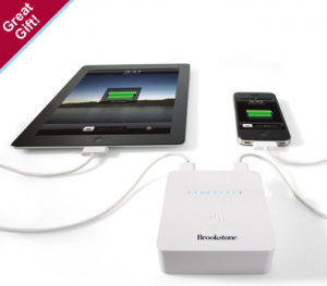 The Brookstone Charger can power two devices at once.