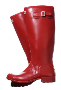 These stylish Wellington boots from Hunter neatly fold up.