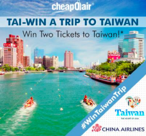 You and a guest could be heading to Taiwan!