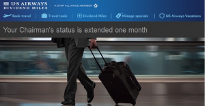 US Airways extends status through March 30, 2014.