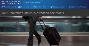 US Airways extends status through March 30, 2014.
