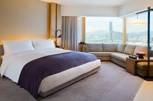 A guestroom at the Upper House Hong Kong.