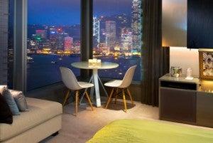 A Cool Corner room at the W Hong Kong.