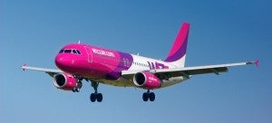 Wizz Air's planes are all various shades of pink.