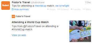 Tips for attending a World Cup match.