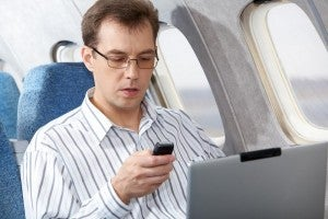 People are already using their phones to text and call on several international airlines.