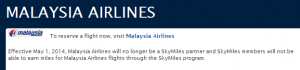 Malaysia and Delta are ending their partnership.