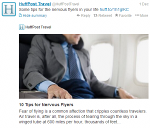 Are you or is someone you know a nervous flyer?