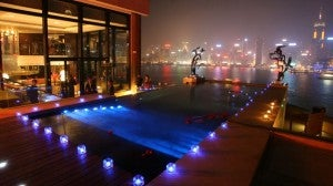 Presidental Suite Private Whirlpool at the Intercontinental Hong Kong