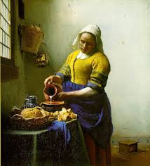 You can see The Milkmaid painted by Dutch Painter Vermeer at the Rijksmuseum.