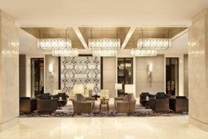 The 12th-floor lobby.