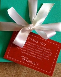A Tiffany's gift card worth $200.
