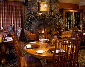 Enjoy a meal at the Rusty Parrot Lodge's Wild Sage Restaurant.