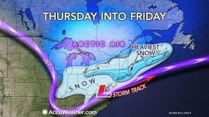 The snowstorm is going to snarl air traffic for days.