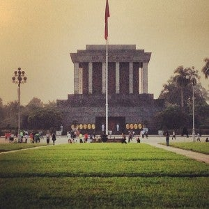 The Ho Chi Minh Mausoleum .