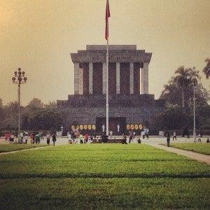 The Ho Chi Minh Mausoleum .