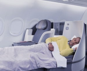 Business class looks pretty comfy too.