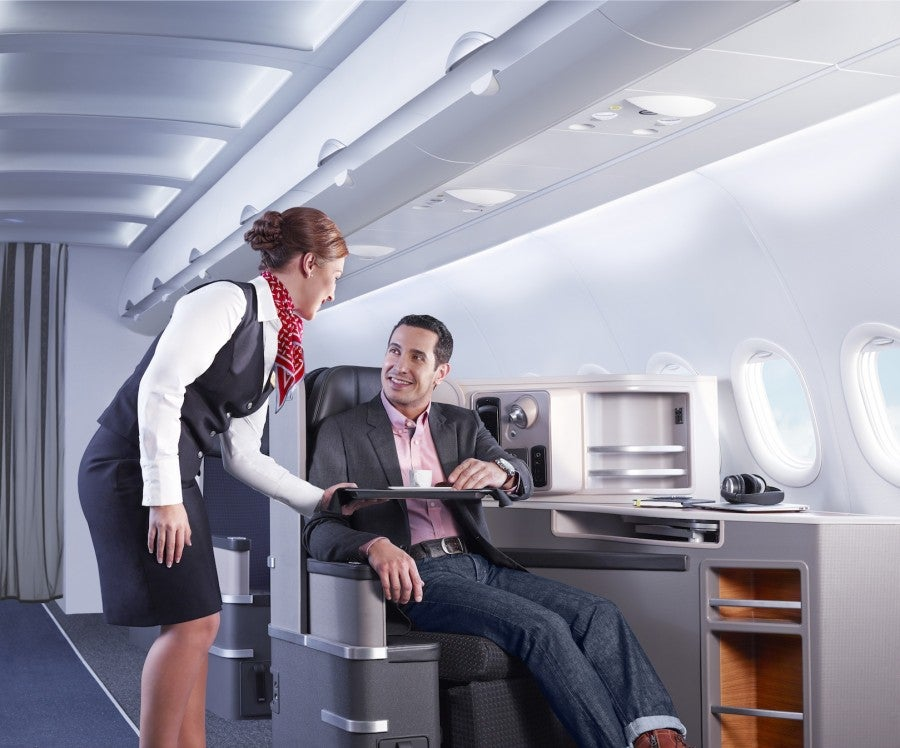 I was so looking forward to trying out the new aircraft's first class.