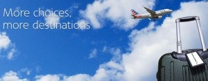 Get 50% more AAdvantage miles on Us Airways flights.
