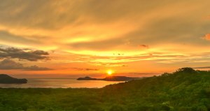 A sunset view from the Andaz Papagayo in Costa Rica.