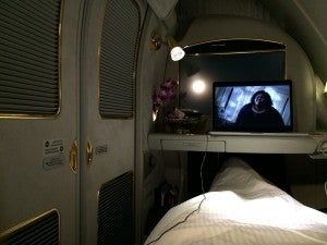 Emirates Bed Doors Closed Watching AHS