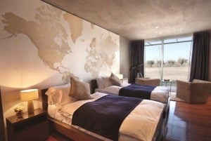 A guestroom at the Entre Cielos Wine Resort.