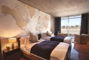 A guestroom at the Entre Cielos Wine Resort.