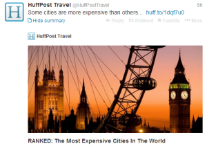 The most expensive cities in the world.
