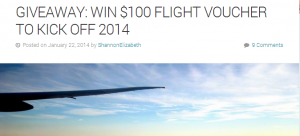 Enter to win a $100 flight voucher.