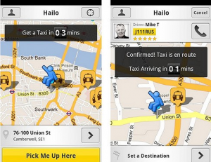 Hailo makes it easy to order a taxi.