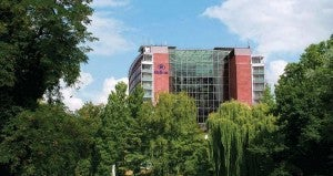 The Hilton Frankfurt.