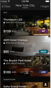 Book hotels last minute with the Hotel Tonight App.