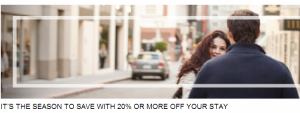 Save 20-30% at participating Hyatt  Hotels.