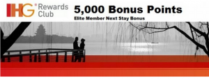 Elite IHG Rewards members can get a 5,000 bonus.