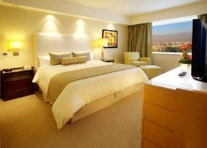 A guest suite at the Intercontinental Mendoza.