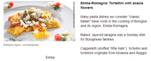 Food in Italy's 20 regions.