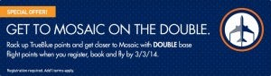 Get double points on Jet Blue.