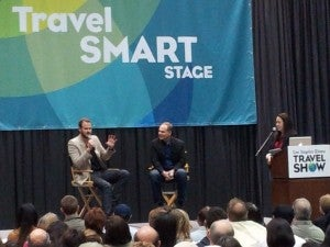 Dishing out travel credit card picks at the LA Times Travel Show.