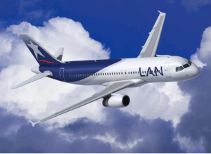 You can fly LAN from Miami or JFK to