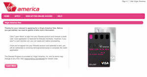 New Virgin America Visa