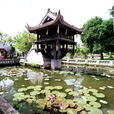 The One Pillar Pagoda in Hanoi.