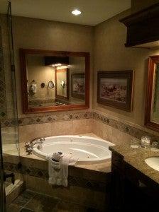 Bathroom at Hotel Park City.